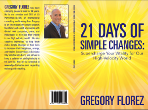 This book will change your life by providing you with very simple tools to increase your vitality in a high velocity world.